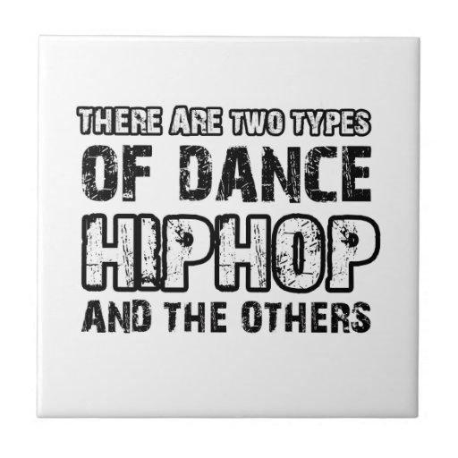 Hiphop dancing designs ceramic tile