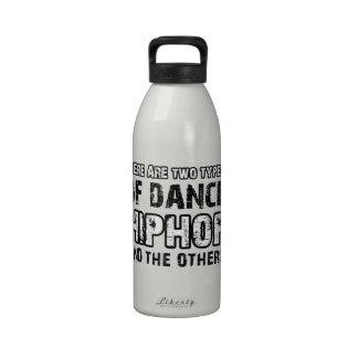 Hiphop dancing designs drinking bottles