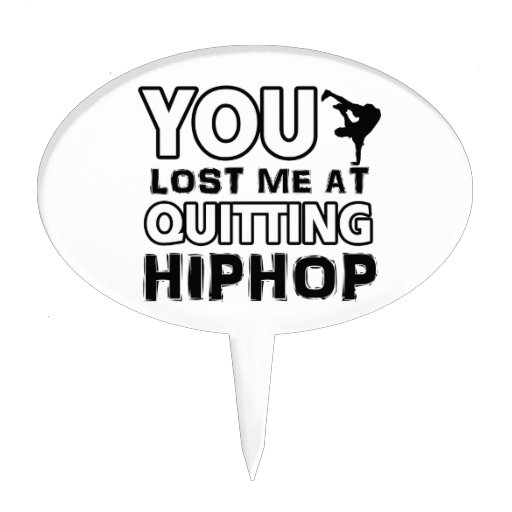 Hiphop designs will make a great gift item cake toppers