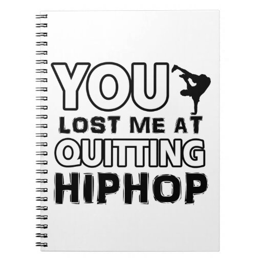 Hiphop designs will make a great gift item spiral note books