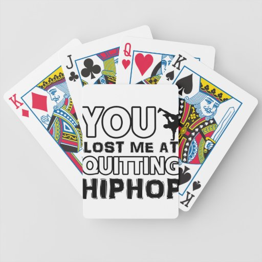 Hiphop designs will make a great gift item bicycle card deck