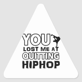 Hiphop designs will make a great gift item triangle sticker