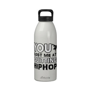 Hiphop designs will make a great gift item water bottle