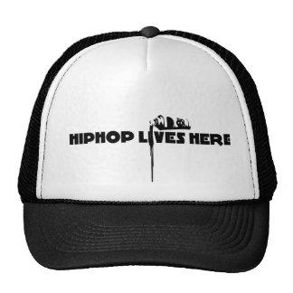 hiphop lives here trucker hat