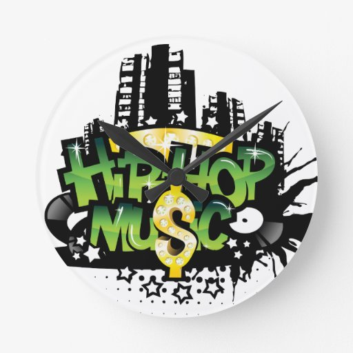 HipHop Music Round Wall Clocks