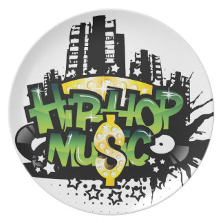 HipHop Music Party Plates