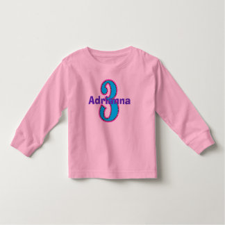 Hippe Chic Third Birthday Girl Shirt