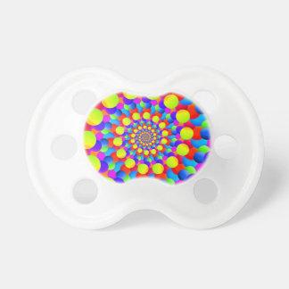 Hippie Art Rainbow Spiral Fractal Dummy