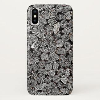 Hippie beach positive black and white phone case