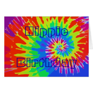 Hippie Birthday Groovy Tie-Dye Card