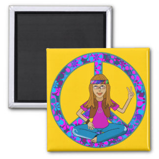 Hippie Chick Magnet