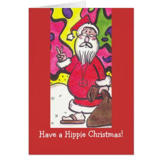 Hippie Christmas Card