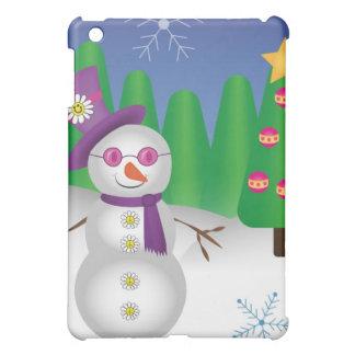 Hippie Christmas Snowman Cover For The iPad Mini