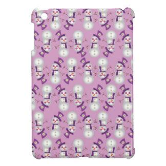 Hippie Christmas Snowman Pattern iPad Mini Cover