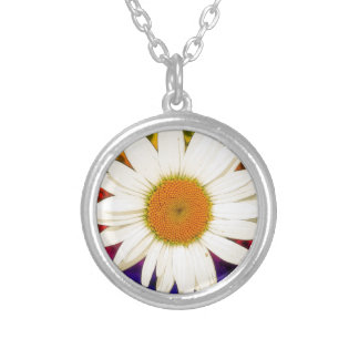 Hippie Daisy Silver Plated Necklace