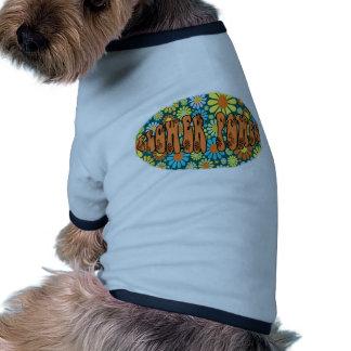 Hippie Days FLOWER POWER Pet T Shirt
