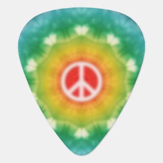 Hippie Dream Peace Sign Guitar Pick