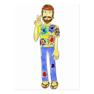 Hippie Dude Postcard