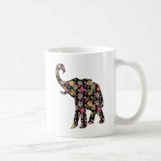 Hippie Elephant Basic White Mug