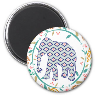 Hippie Elephant Gypsy Folk Indian Boho Home Decor 6 Cm Round Magnet