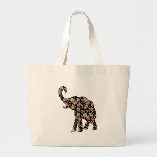 Hippie Elephant Tote Bag Jumbo Tote Bag