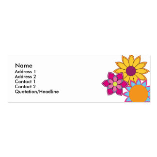 Hippie Flowers Pack Of Skinny Business Cards