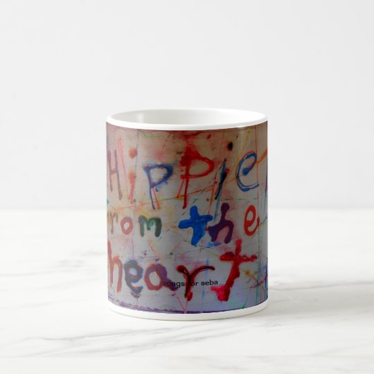 hippie from the heart abstract mugs