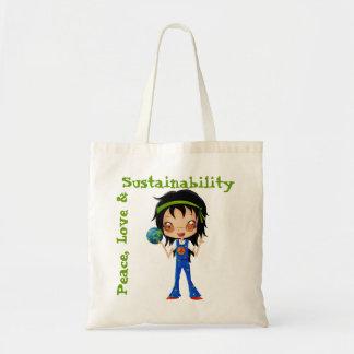Hippie Girl Kids Peace Earth Bags