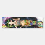 Hippie Girl Mermaid Bumper Sticker