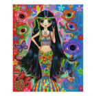 Hippie Girl Mermaid Poster