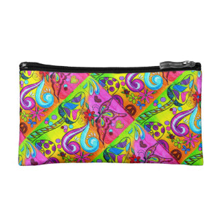 hippie groovy cosmetics bag cosmetic bags