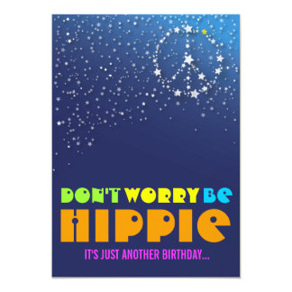 Hippie Happy 40th Birthday Peace Party Invitations