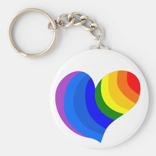 hippie heart keychain