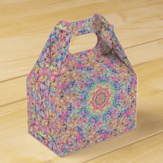 Hippie Kaleidoscope Gable Favor Box