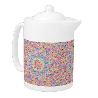 Hippie Kaleidoscope Pattern   Teapots