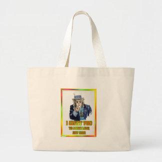 hippie large tote bag