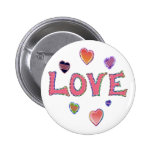 Hippie Love 60s Buttons