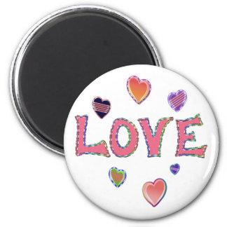 Hippie Love 60s Fridge Magnet