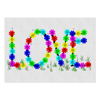 Hippie Love Flowers Business Card