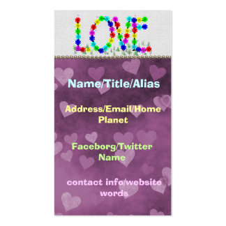 Hippie Love Flowers Business Cards