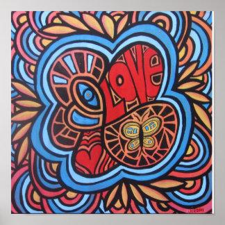 Hippie Love Poster