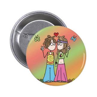 Hippie Lovers Button