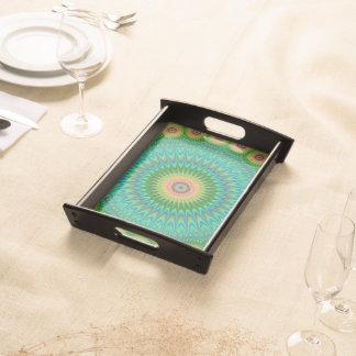 Hippie mandala serving platter