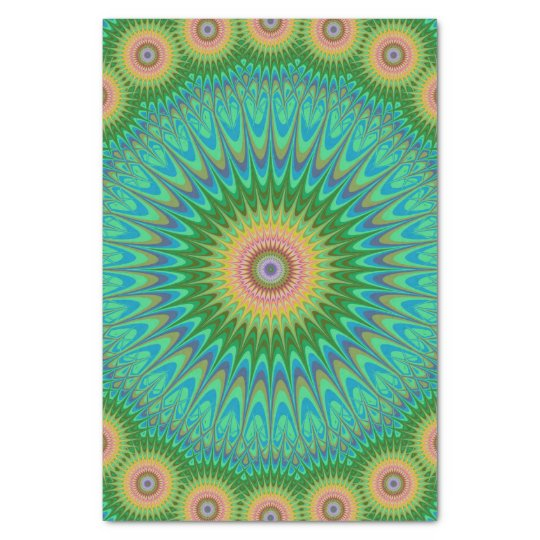 Hippie mandala tissue paper