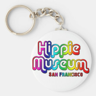 Hippie Museum San Francisco Basic Round Button Key Ring