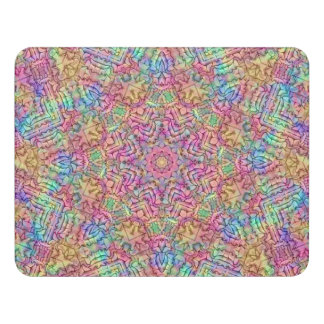 Hippie Pattern  Customizable Sign, self adhesive Door Sign