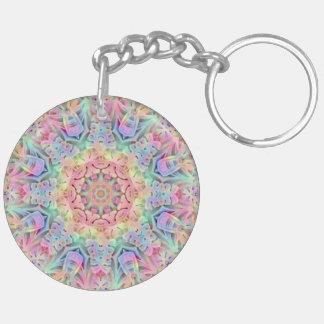 Hippie Pattern (double-sided) Keychain