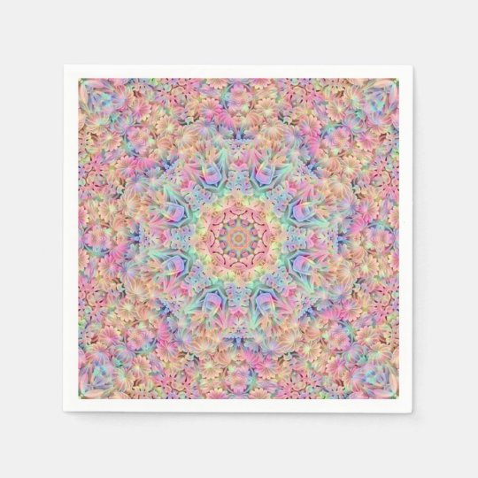 Hippie Pattern Paper Napkins, 5 styles Disposable Serviette