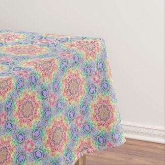 Hippie Pattern  Vintage Kaleidoscope   Tablecloth