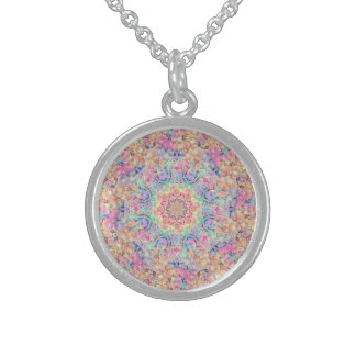 Hippie Pattern Vintage   Sterling Silver Necklace